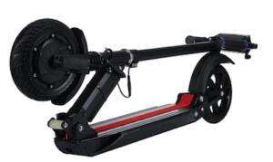 trottinette electrique urban glide ride 80 XL pliée